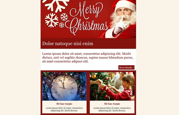 Email Greeting Christmas Templates