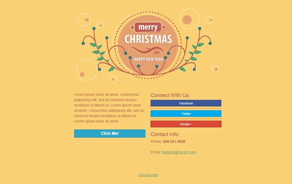 Email Templates for Christmas and New Year