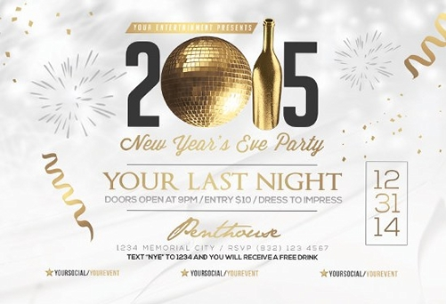 For A Great New Year Party  Free Flyer Templates Collection  Gt