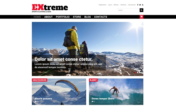 Extreme Sports Clothing Gear WooCommerce Theme
