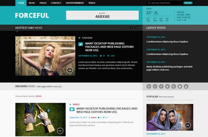 Forceful Magazine WordPress Theme
