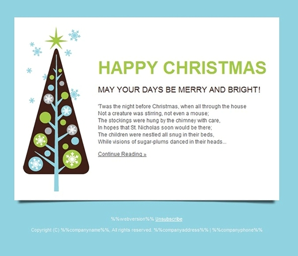 All for Christmas: Seasonal Cards, Email Templates and ...
