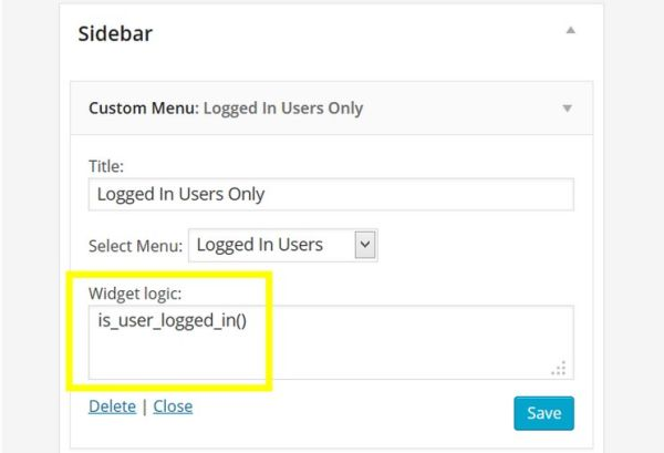 How to Show WordPress Widgets Only to Logged In Users