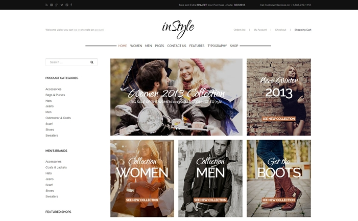 Instyle Webstore WordPress Theme