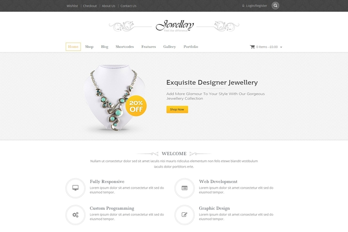 Jewellery WooCommerce Responsive Theme