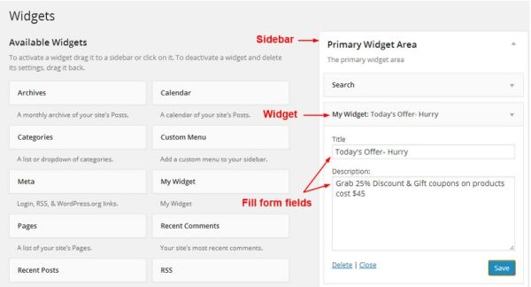 Learn How to Create a WordPress Custom Widget in Few Simple Steps