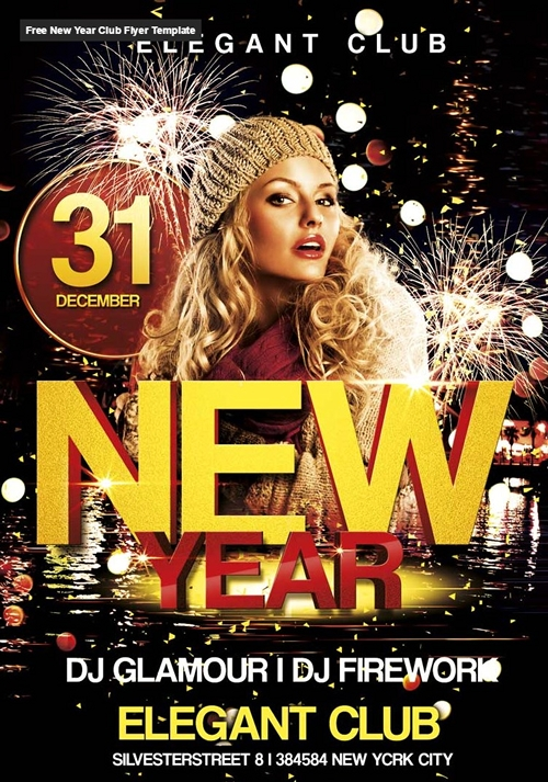 New Year Club Flyer Template