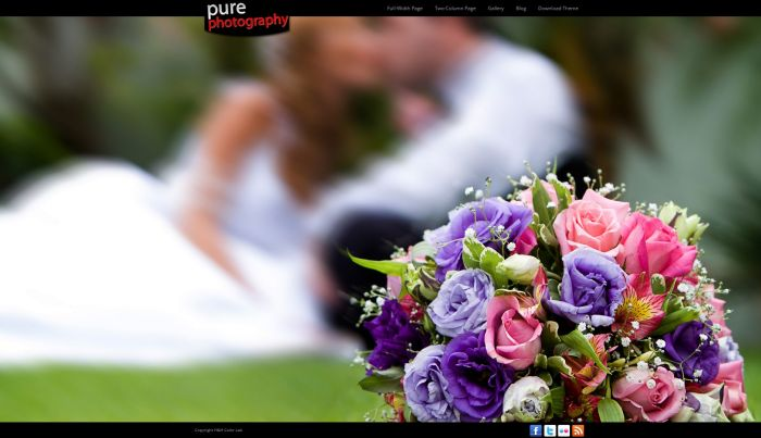Pure Photography WordPress Theme