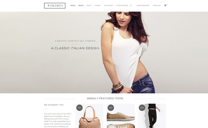 Regency Beautiful & Modern Ecommerce Theme