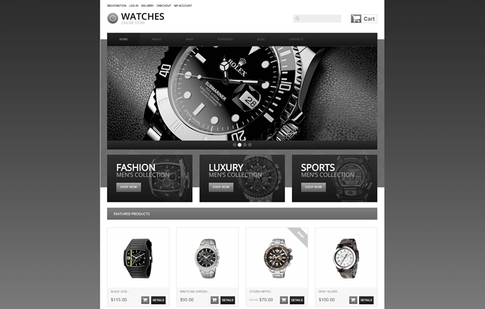 Watches Responsive Jigoshop Theme
