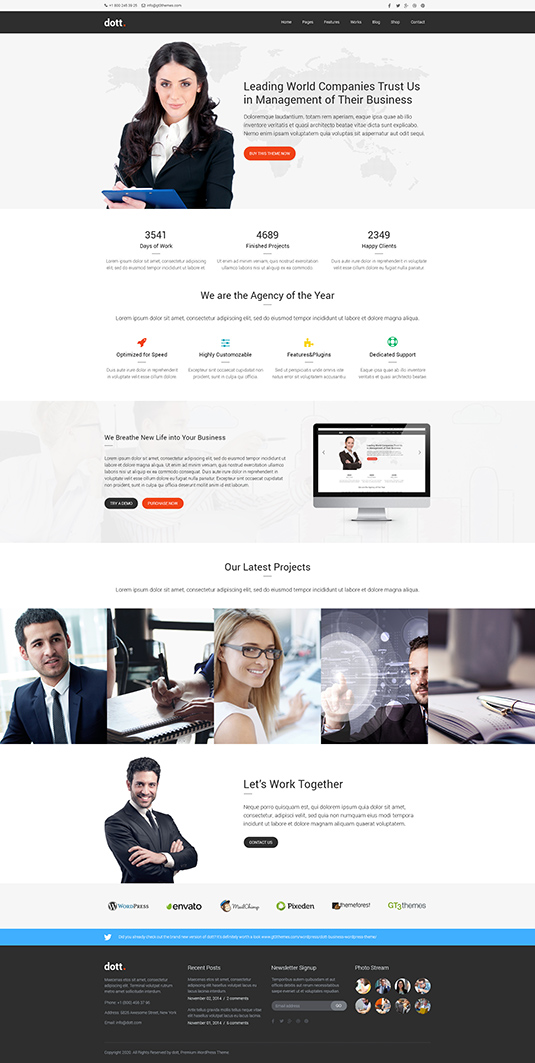 Dott business html website template leave a comment cancel reply wajeb Gallery