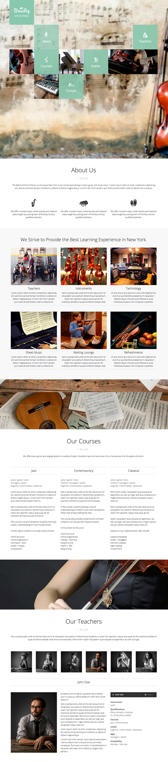 Education One Page Website Template