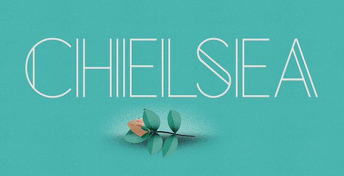 chelsea modern decorative free font