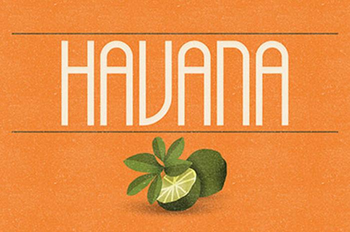 havana awesome serif free font