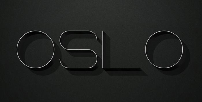 oslo free font