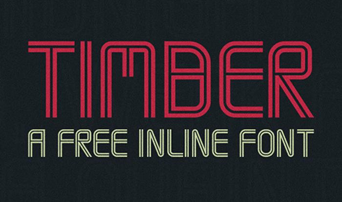 timber free font