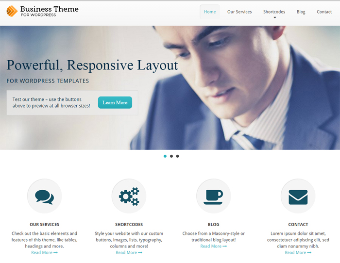 business free business wordpress theme