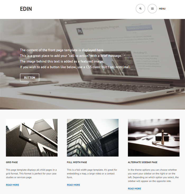 edin free business wordpress theme