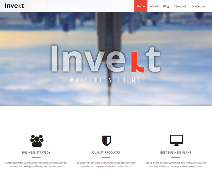 invertlite free business wordpress theme