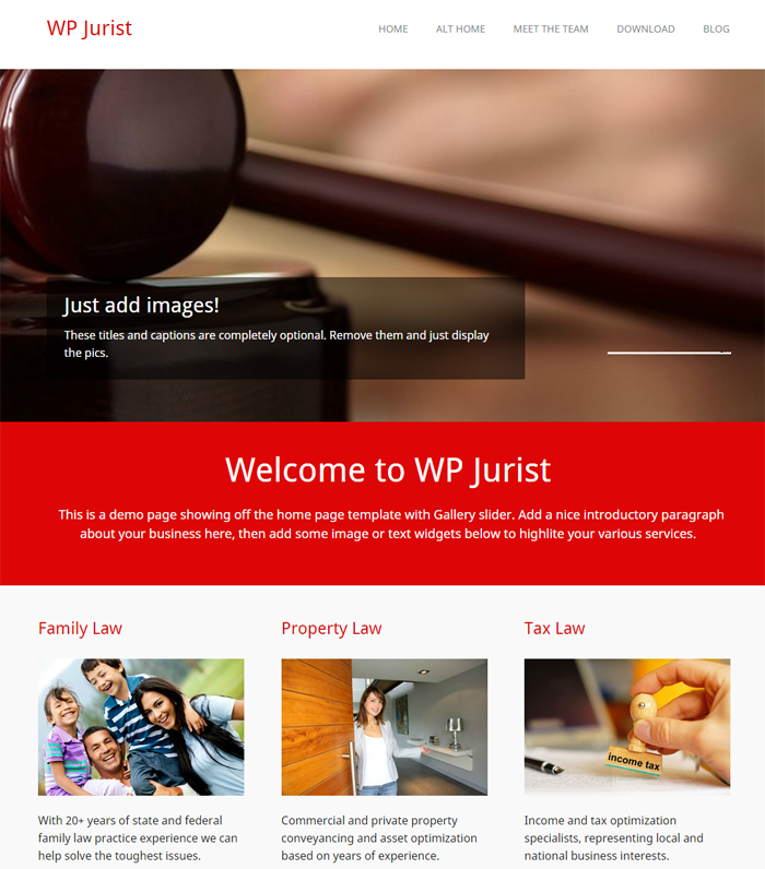 wpjurist free business wordpress theme