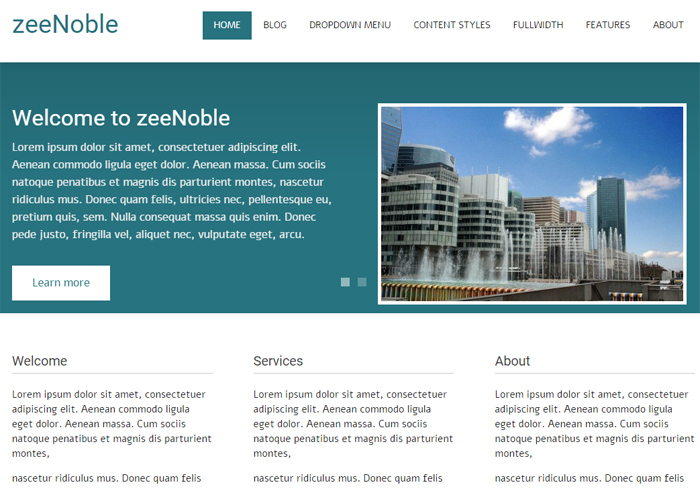 zeenoble free business wordpress theme