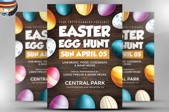 easter egg hunt free flyer template