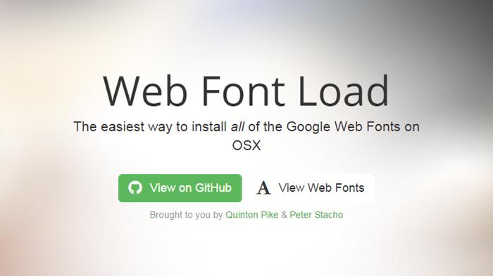web font load