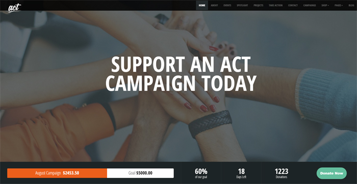 act multipurpose nonprofit wordpress theme