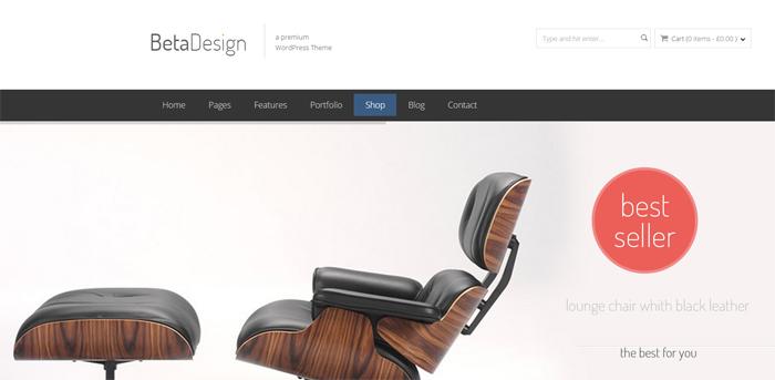 beta design woocommerce wordpress theme