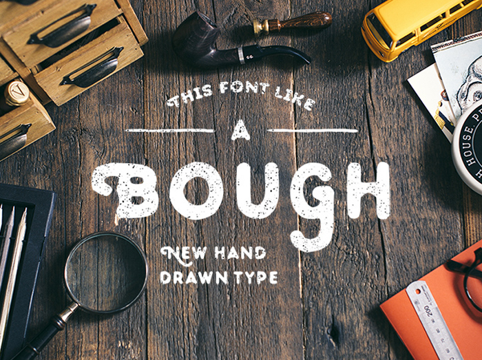 bough free hand drawn typeface