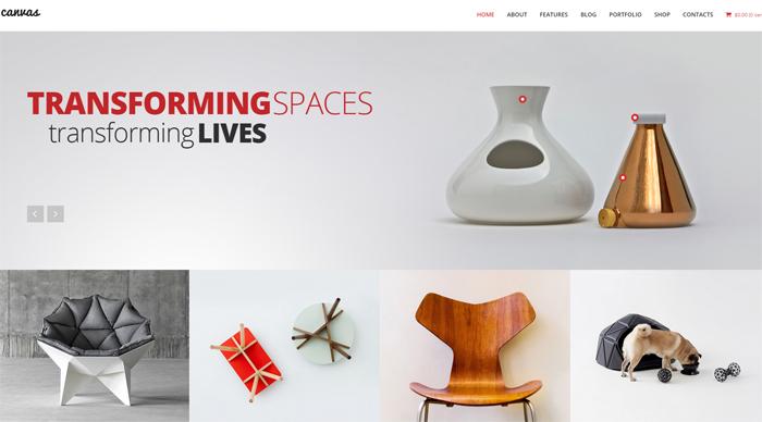 canvas interior & furniture portfolio wordpress theme