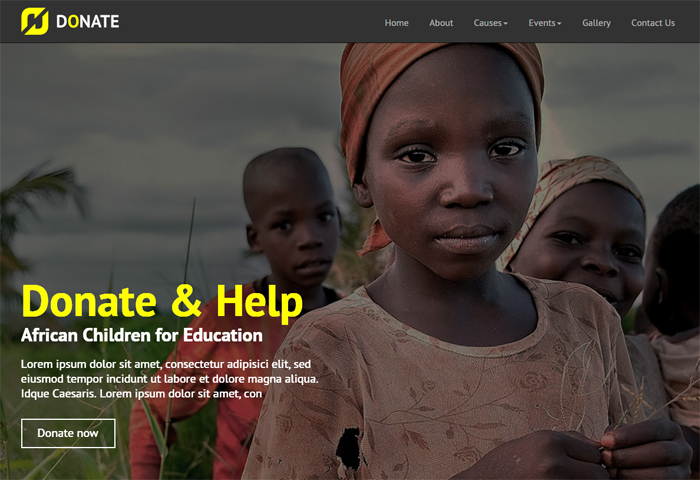 donate multipurpose nonprofit html template