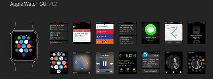 free apple watch ui kit sketch resource