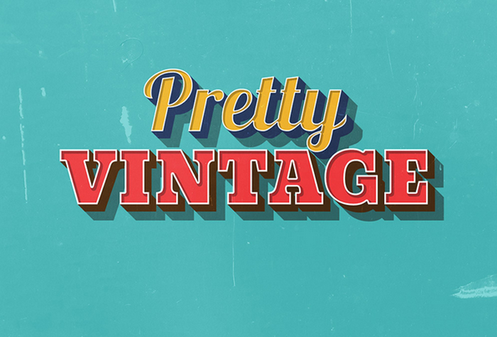 free pretty vintage text effect