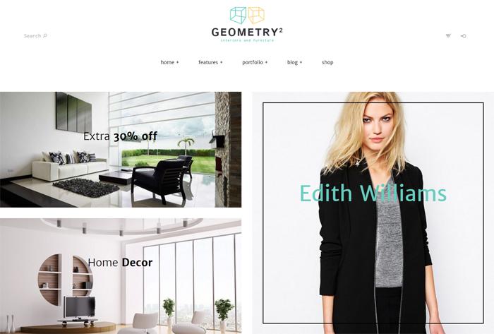 geometry wordpress theme
