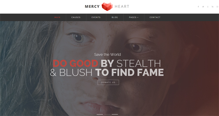 mercy heart modern charity html template