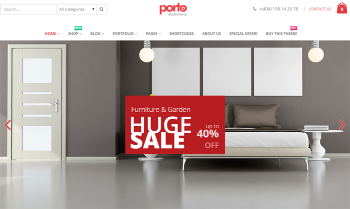 porto responsive ecommerce wordpress theme