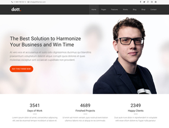 Dott business wordpress theme accmission Image collections
