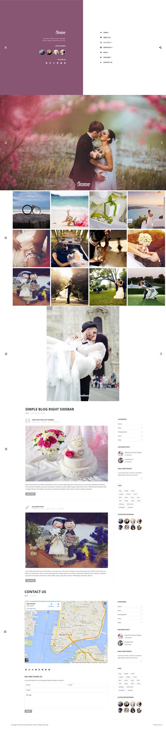 Florence – Wedding Photography WordPress Theme