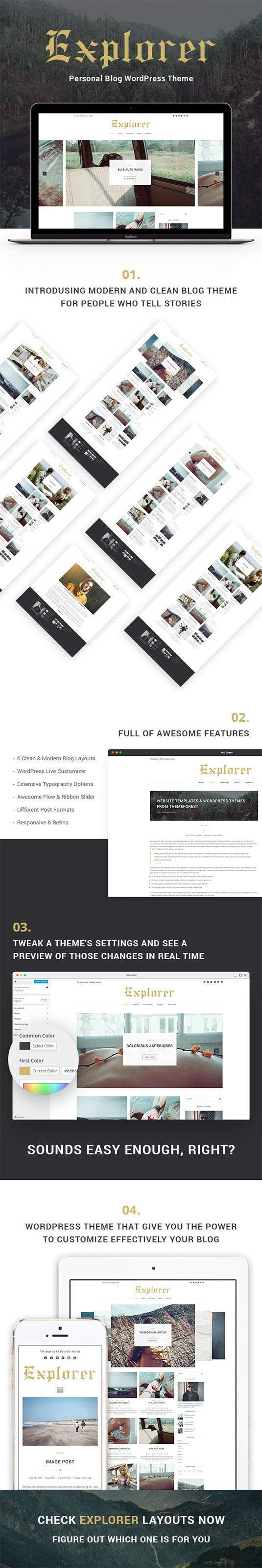Explorer – Personal Blog WordPress Theme