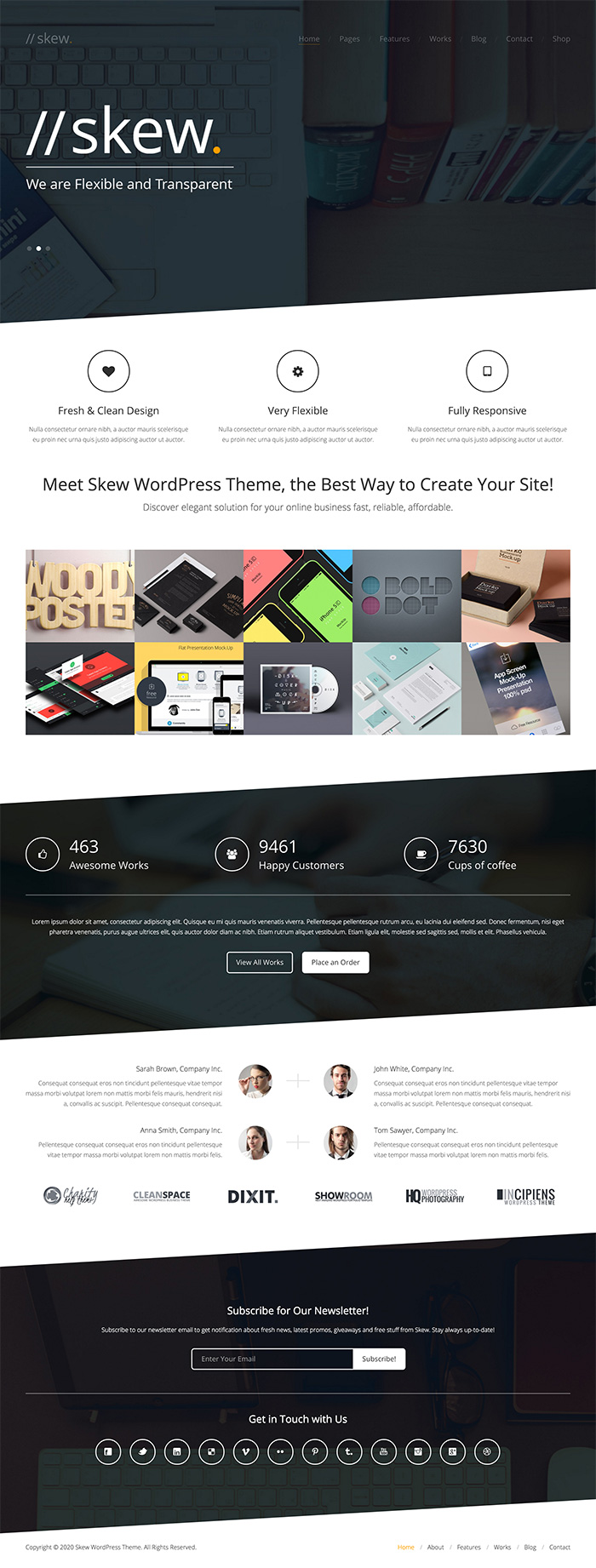 skew-one-page-wordpress-theme