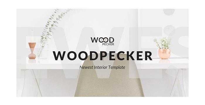 WoodPecker Interior Design PSD Template