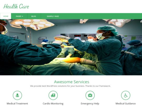 health-care-free-wordpress-theme