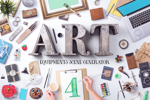 art-equipments-scene-generator