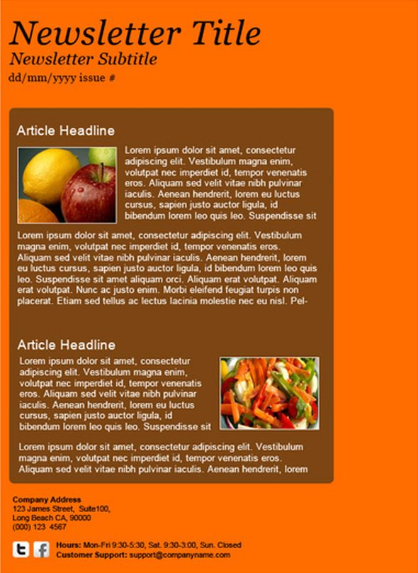 autumn-orange-newsletter-template
