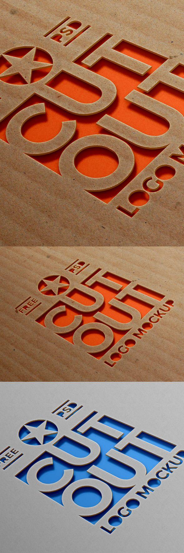 cardboard-cutout-logo-mockup-graphicfuel