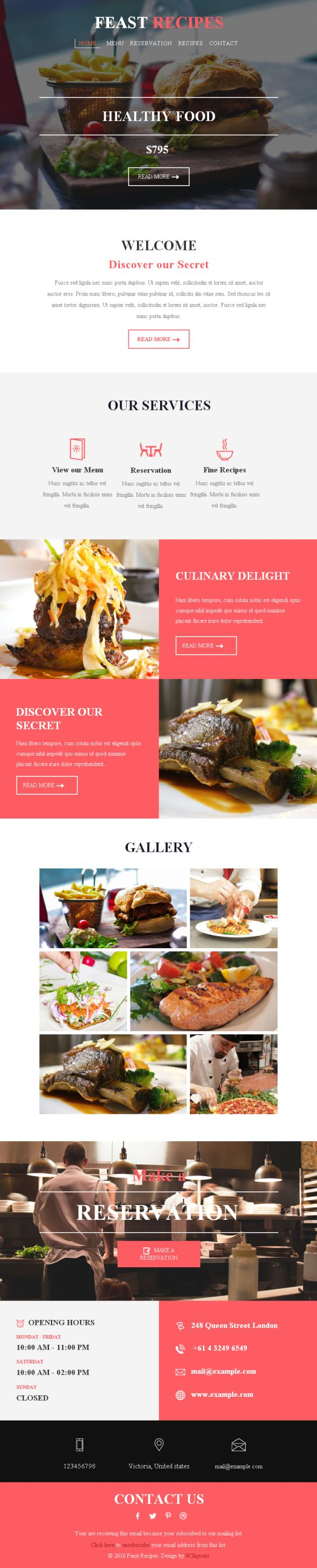 feast-recipes-newsletter-template