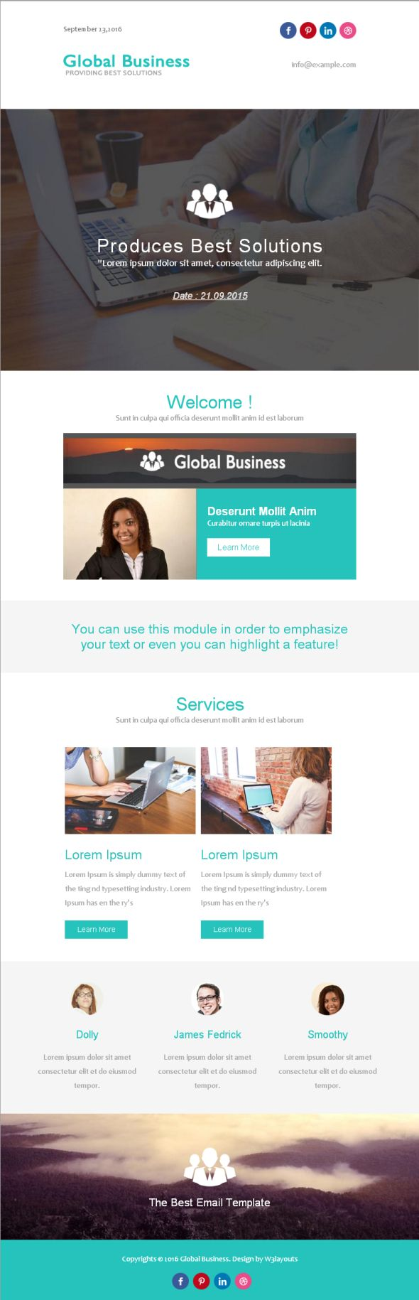 global-business-newsletter-template