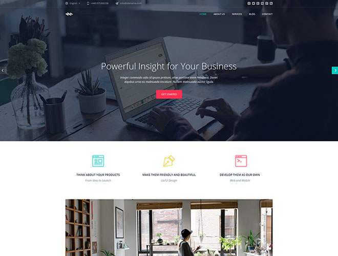 Business One Page HTML Template - Infinum
