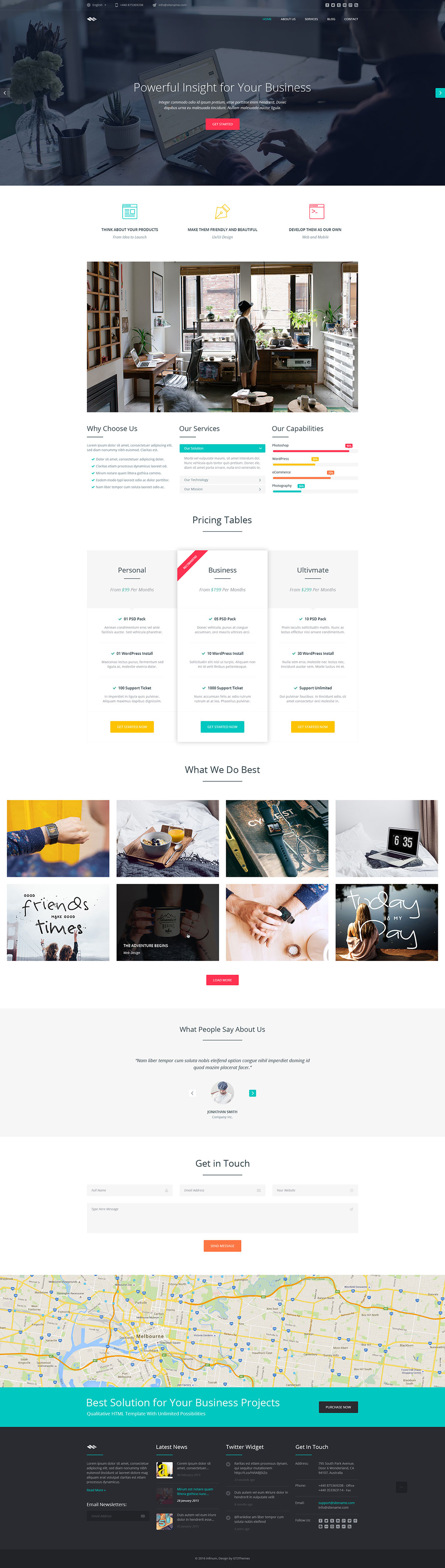 Business One Page HTML Template Infinum - Html web page template